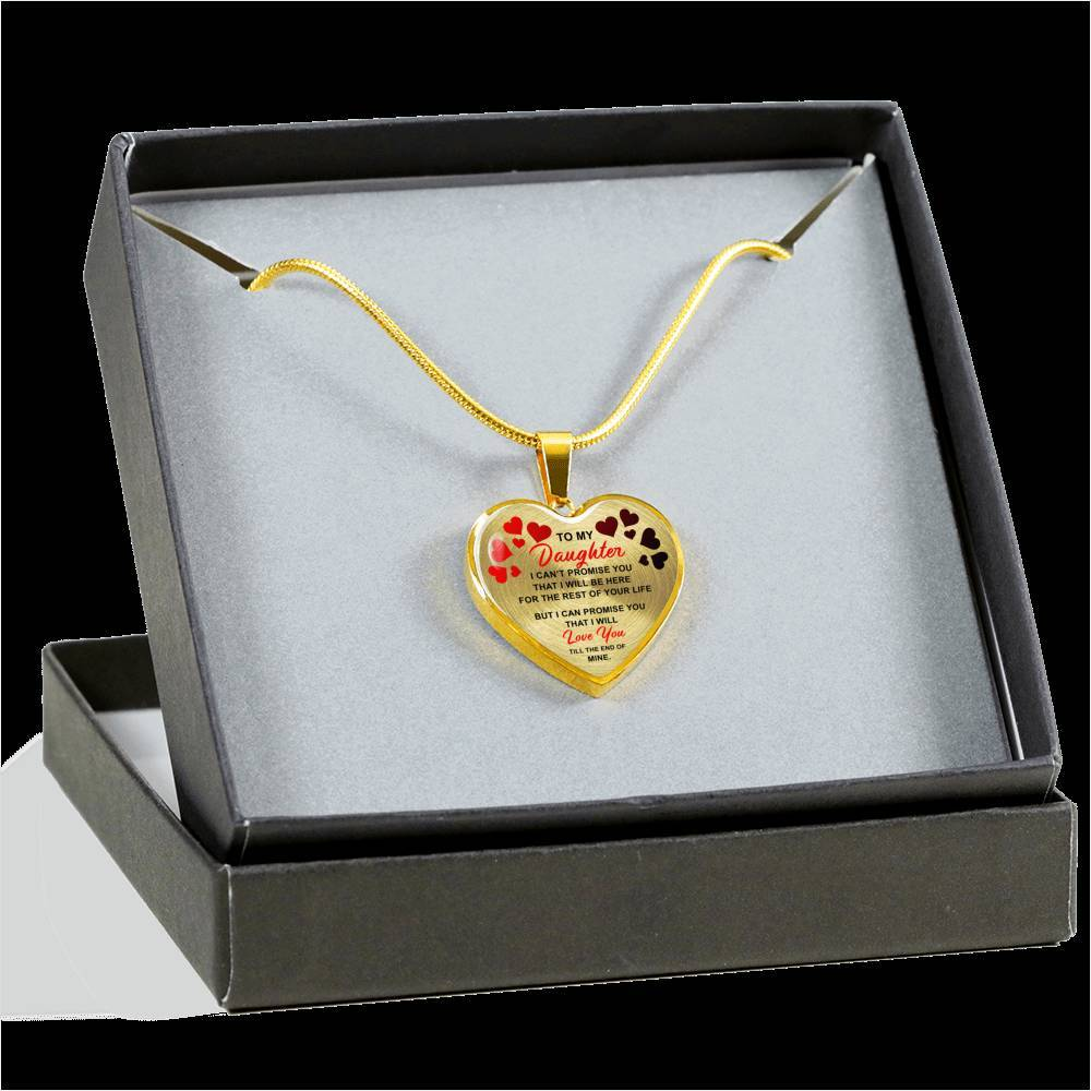 To My Daughter - I Promise - Luxury Necklace