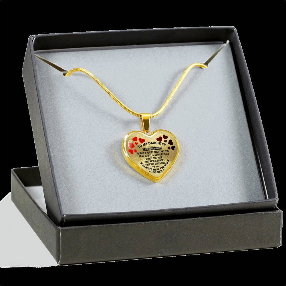 To My Daughter - Dad - Premium Necklace *Real 18k Gold Finish
