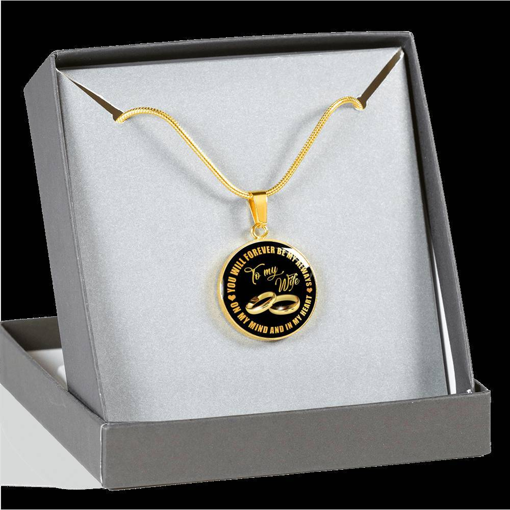 Real 18k Gold Finish Pendant Necklace (Perfect Surprise For Your Wife)