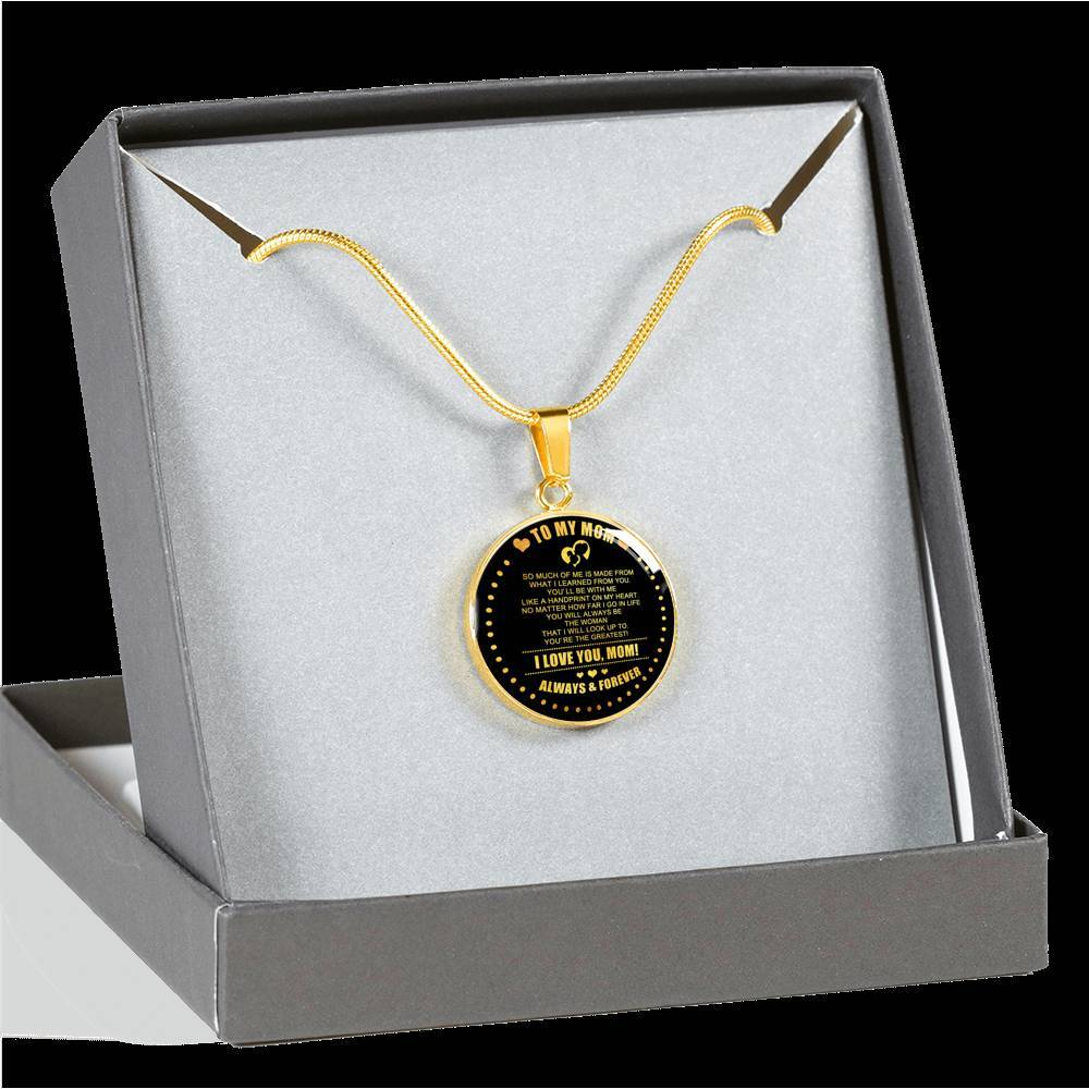 To The Greatest Mom *Real 18k Gold Finish Pendant Necklace