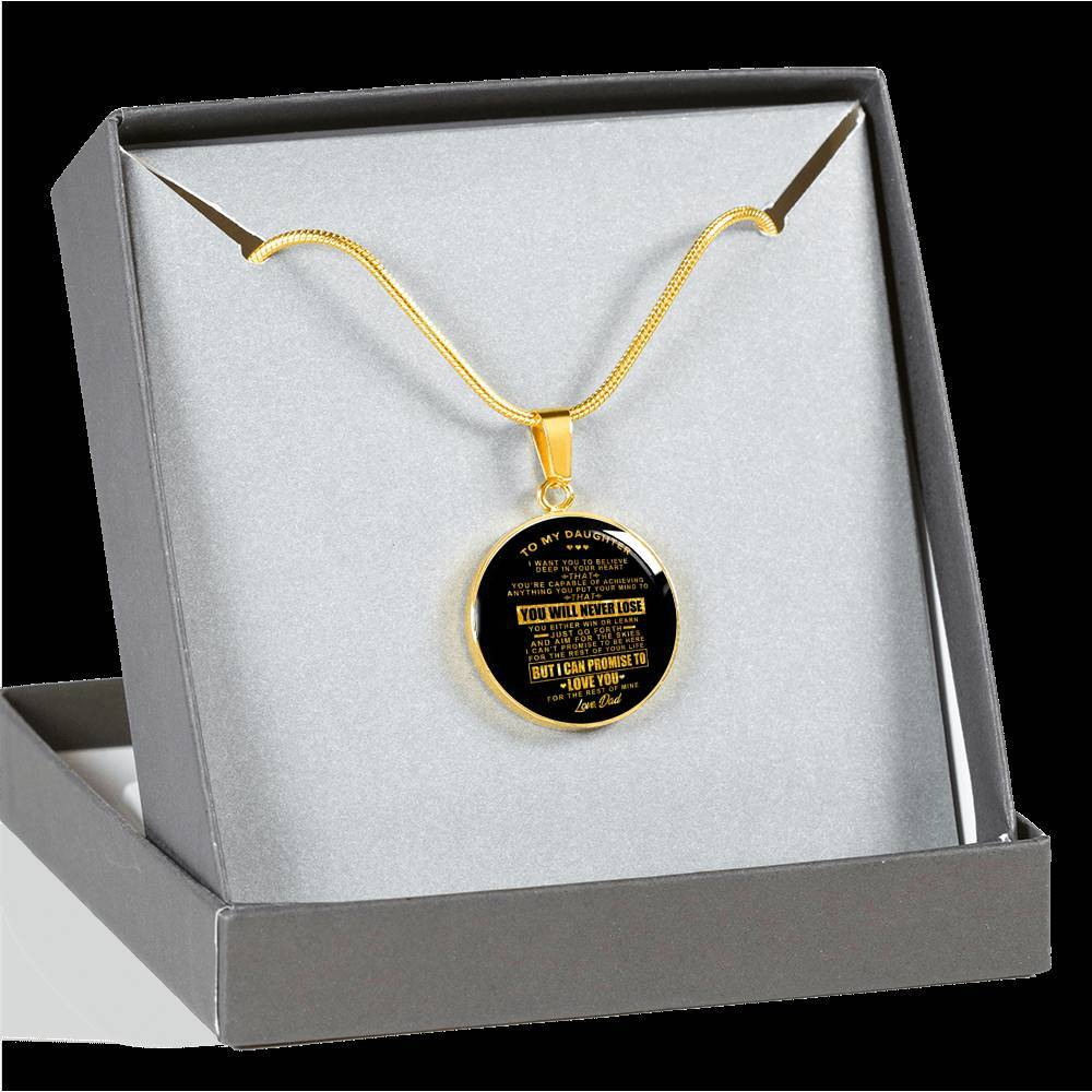 Real 18k Gold Finish Pendant Necklace (Perfect Gift For Daughter - From Dads)