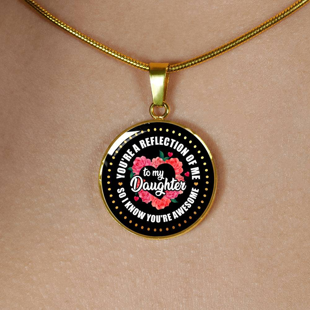 Awesome Daughter - Keepsake Pendant Necklace