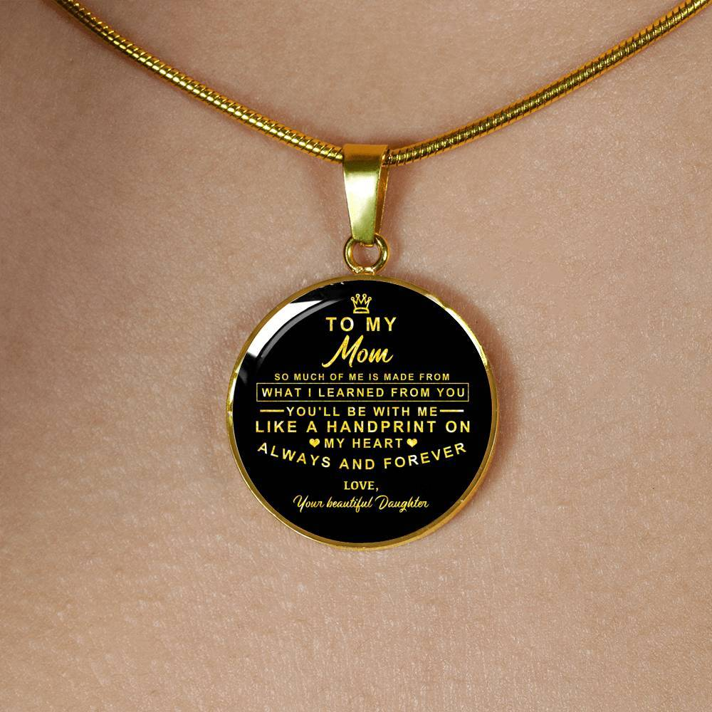Real 18k Gold Finish Pendant Necklace (Perfect Gift For Your Mom)