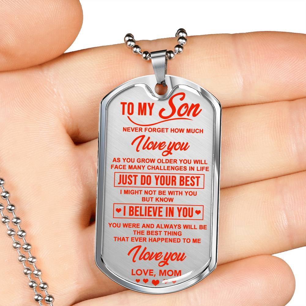 To My Son - From Mom - Keepsake Tag