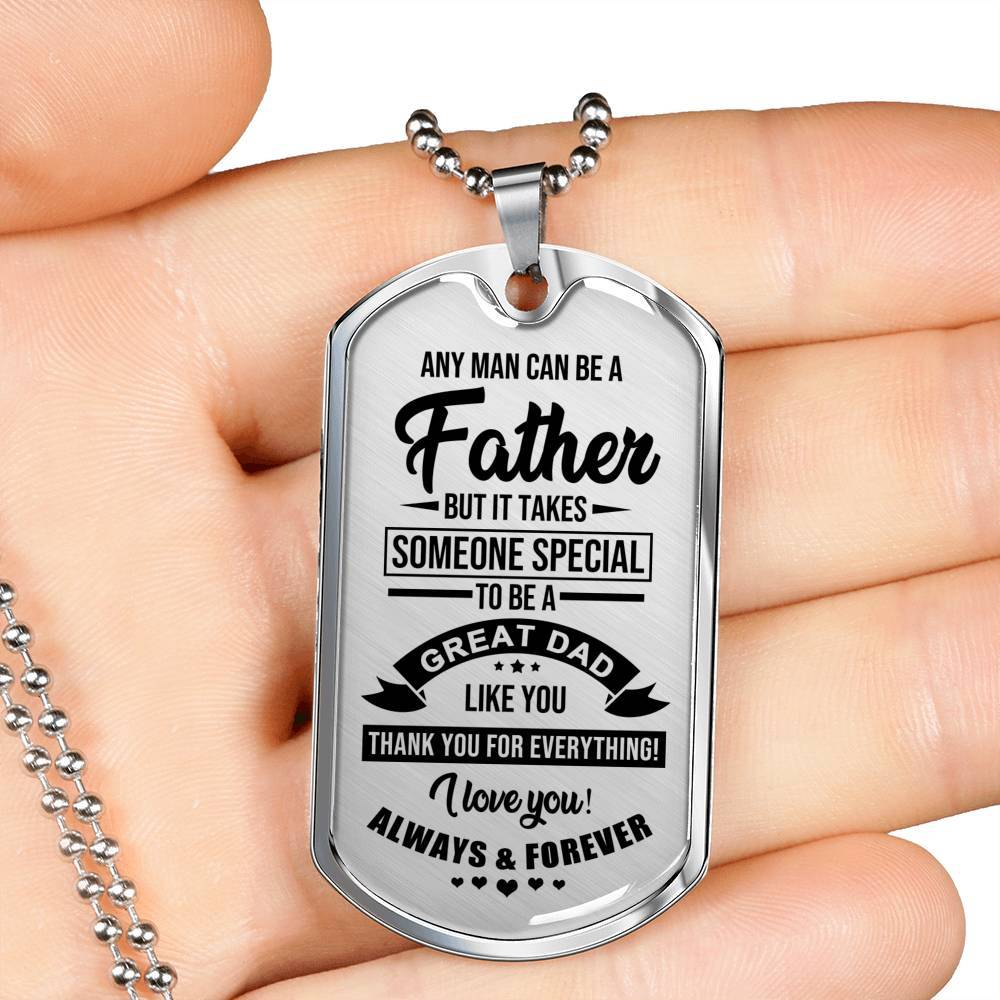 To My Dad - I Love You - Real 18k Gold Finish Keepsake Tag