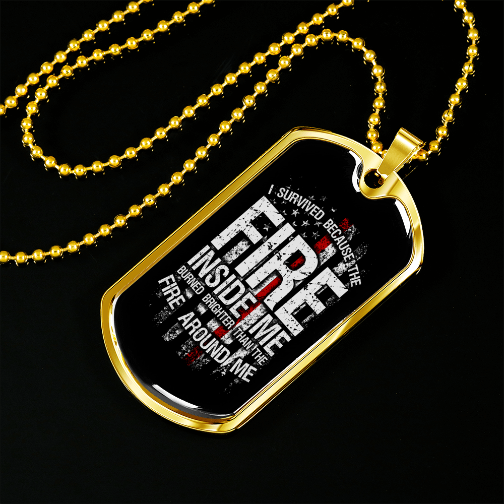 Retired Firefighter Dog Tag