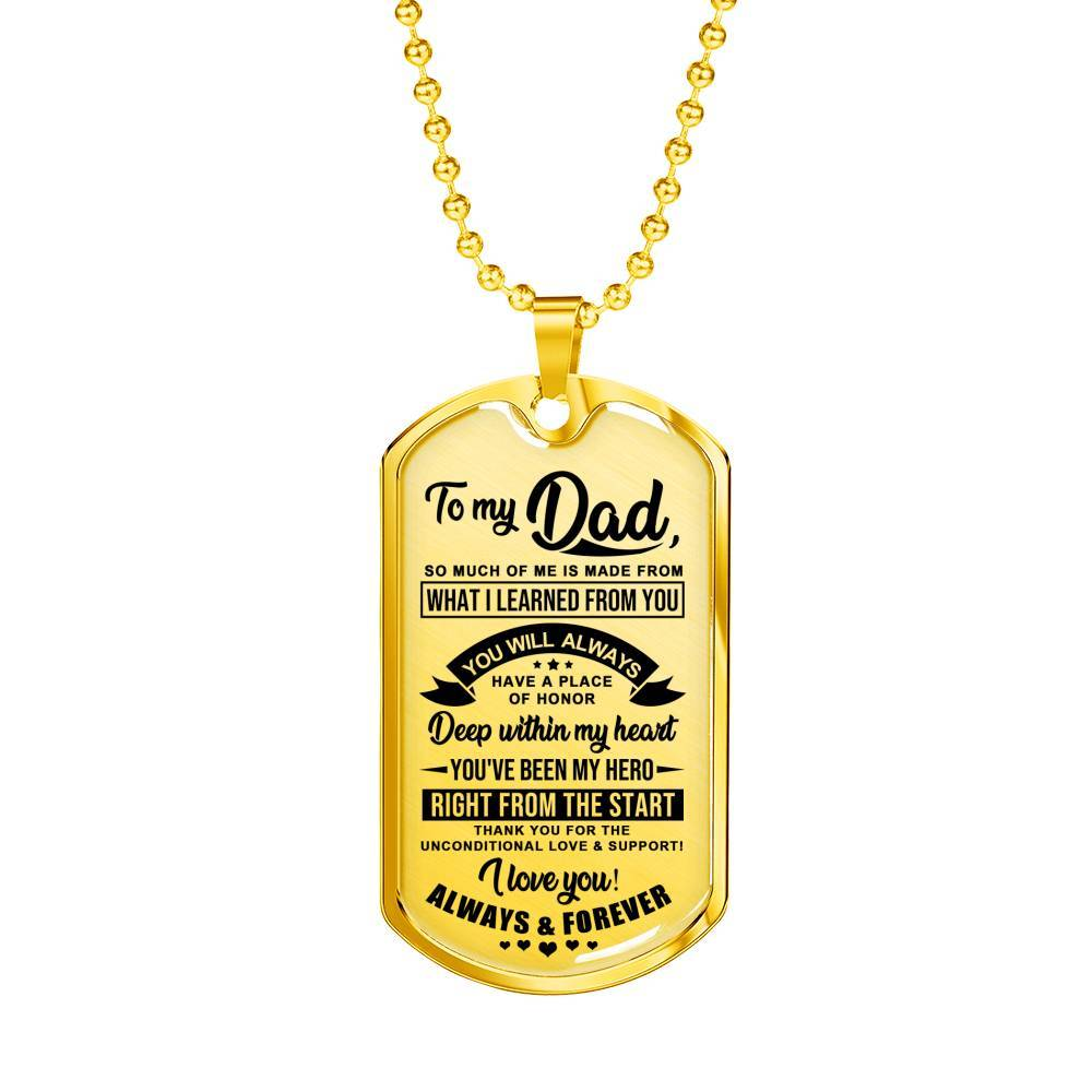 To My Dad - My Hero - Keepsake Tag