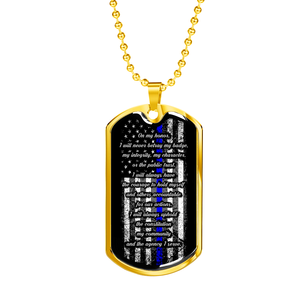 Law Enforcement Oath of Honor Dog Tag