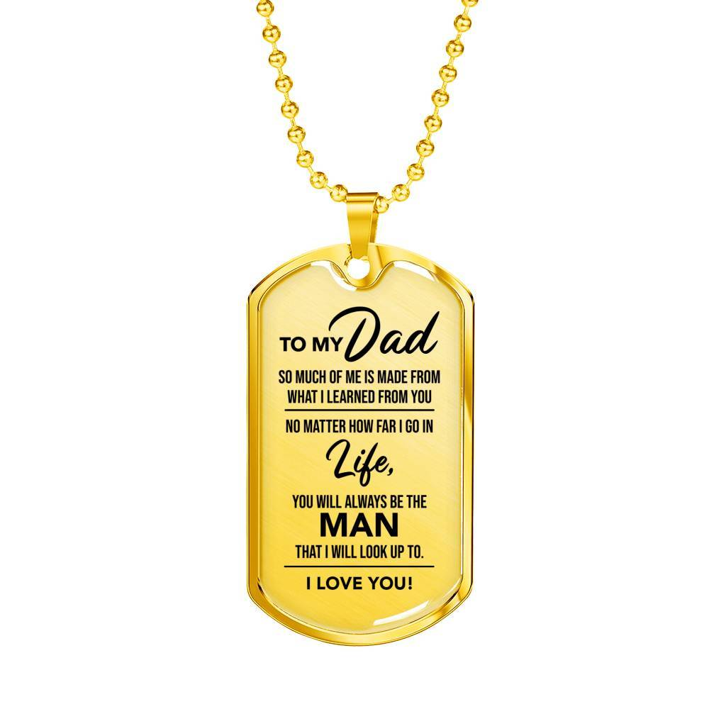 Always Be The Man - Dad - Real 18k Gold Finish Keepsake Tag