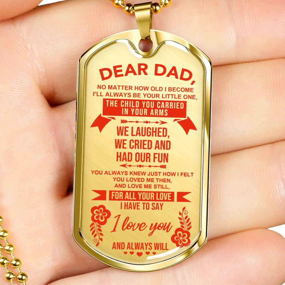 To Dad - From Daughter - Keepsake Tag