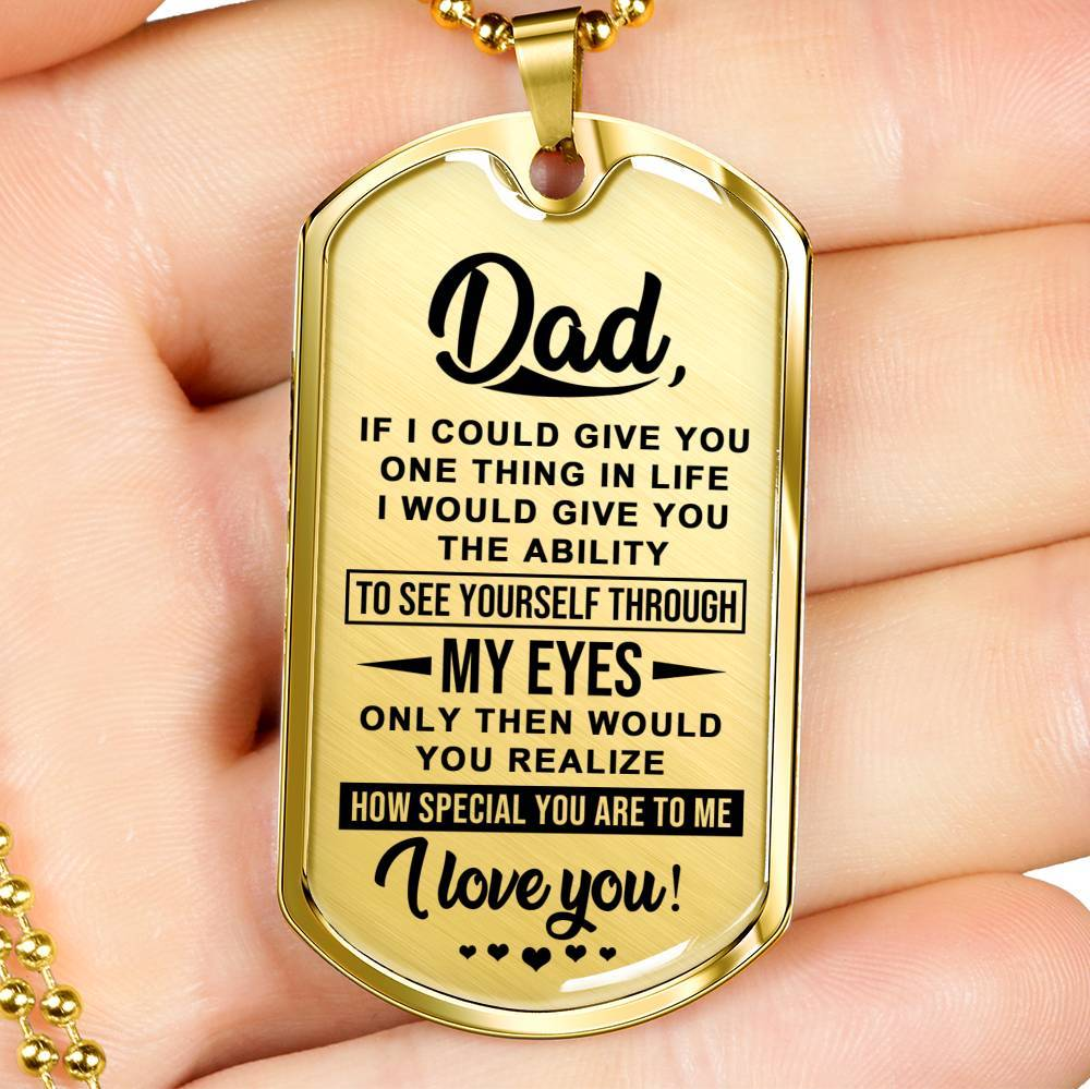 Keepsake For Dad - Real 18k Gold Finish Keepsake Tag