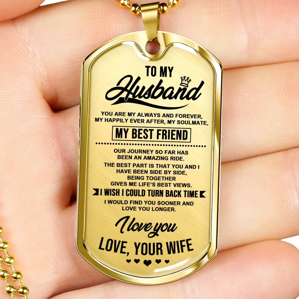 To My Husband - Keepsake Tag