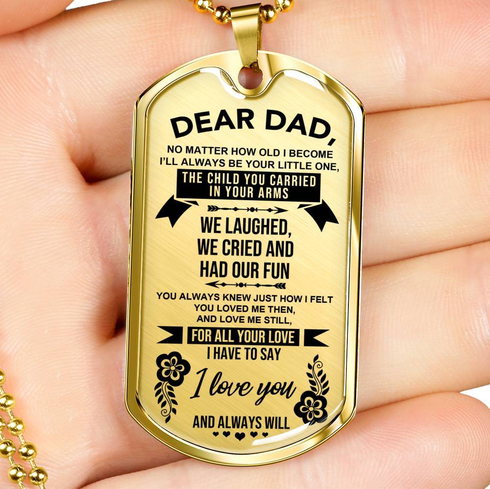 Dear Dad - Keepsake Tag