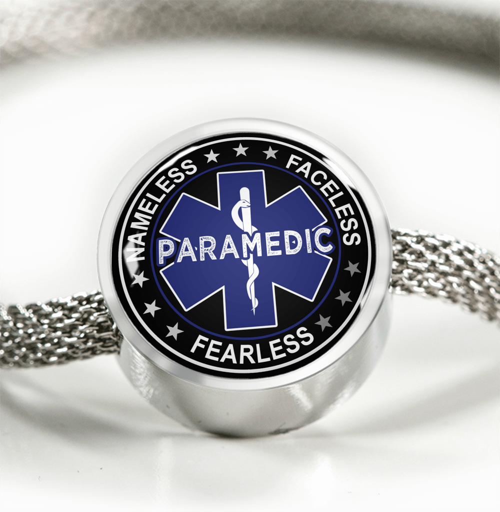 Fearless Paramedic Charm Bracelet