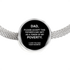 Funny Father's Day Gift Charm Bracelet