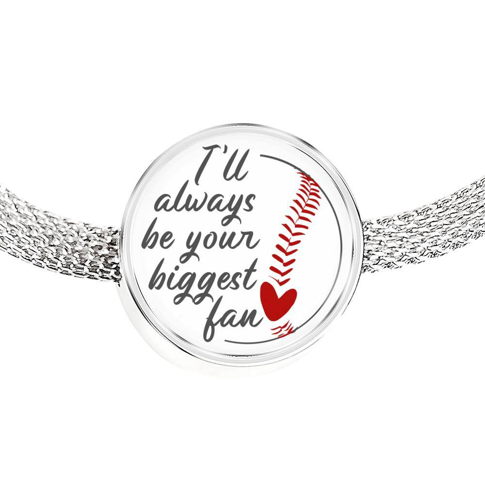 Your Biggest Fan - Baseball Bracelet