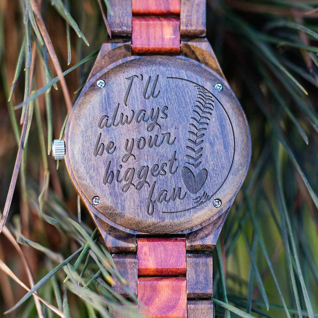 Biggest Fan - Baseball - Wood Watch