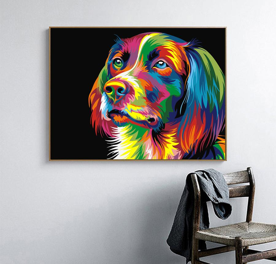 DIY Adorable Dog Canvas Oil Painting Set