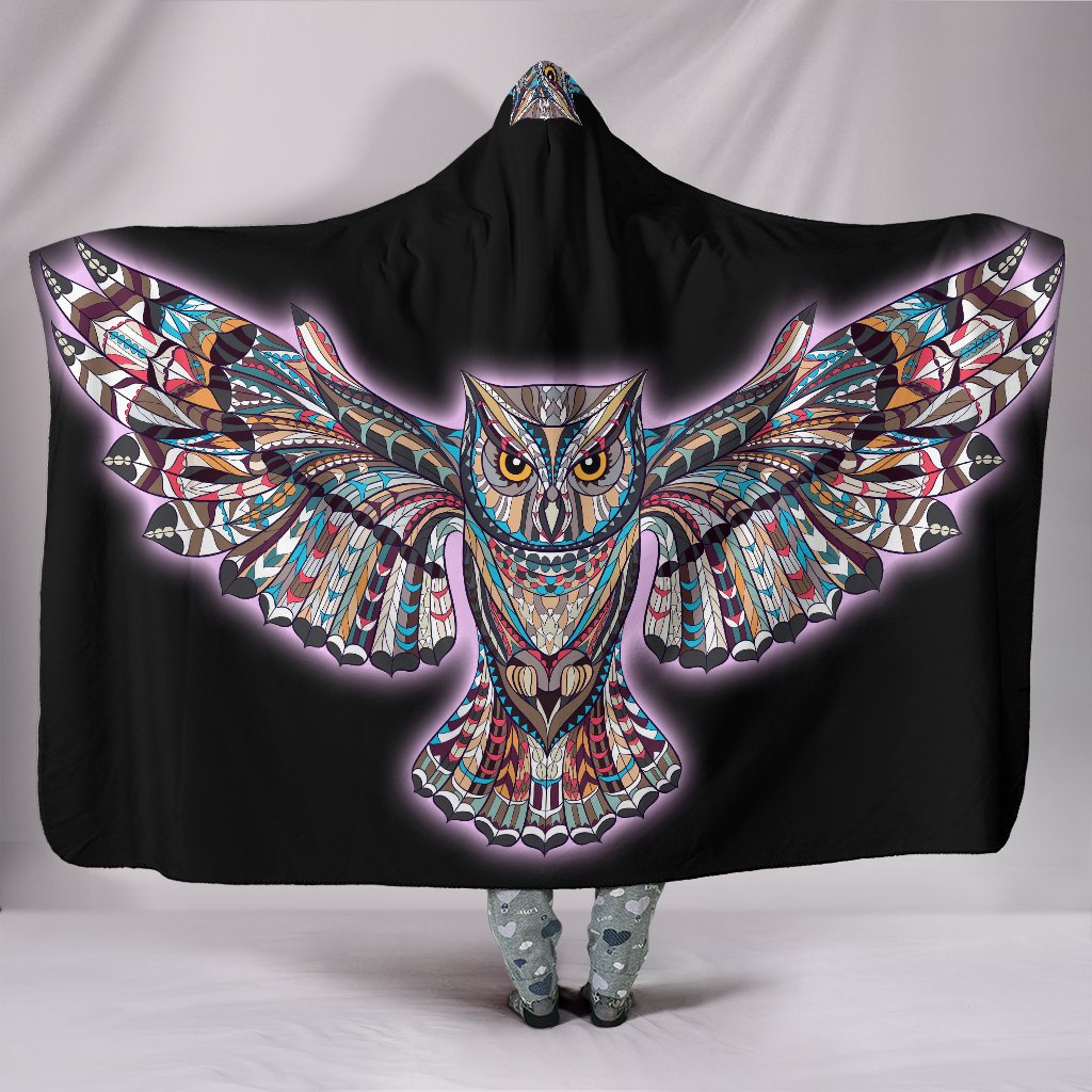Owl Art Hooded Blanket
