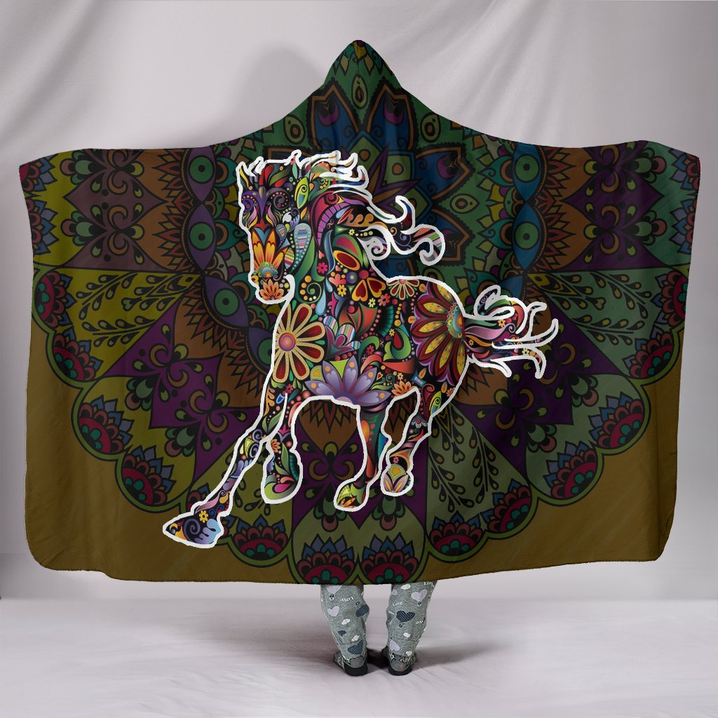 Horse Art Hooded Blanket