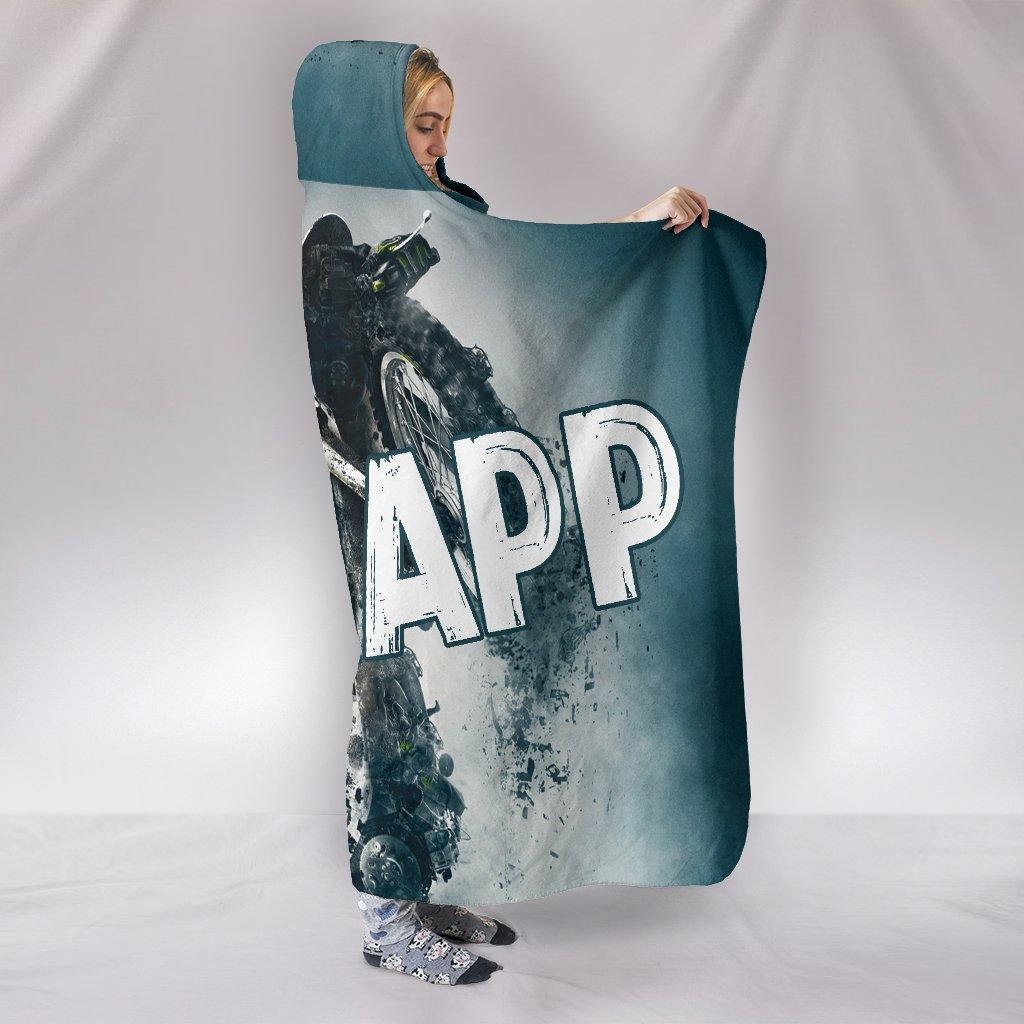 Motocross Braaapp Premium Hooded Blanket