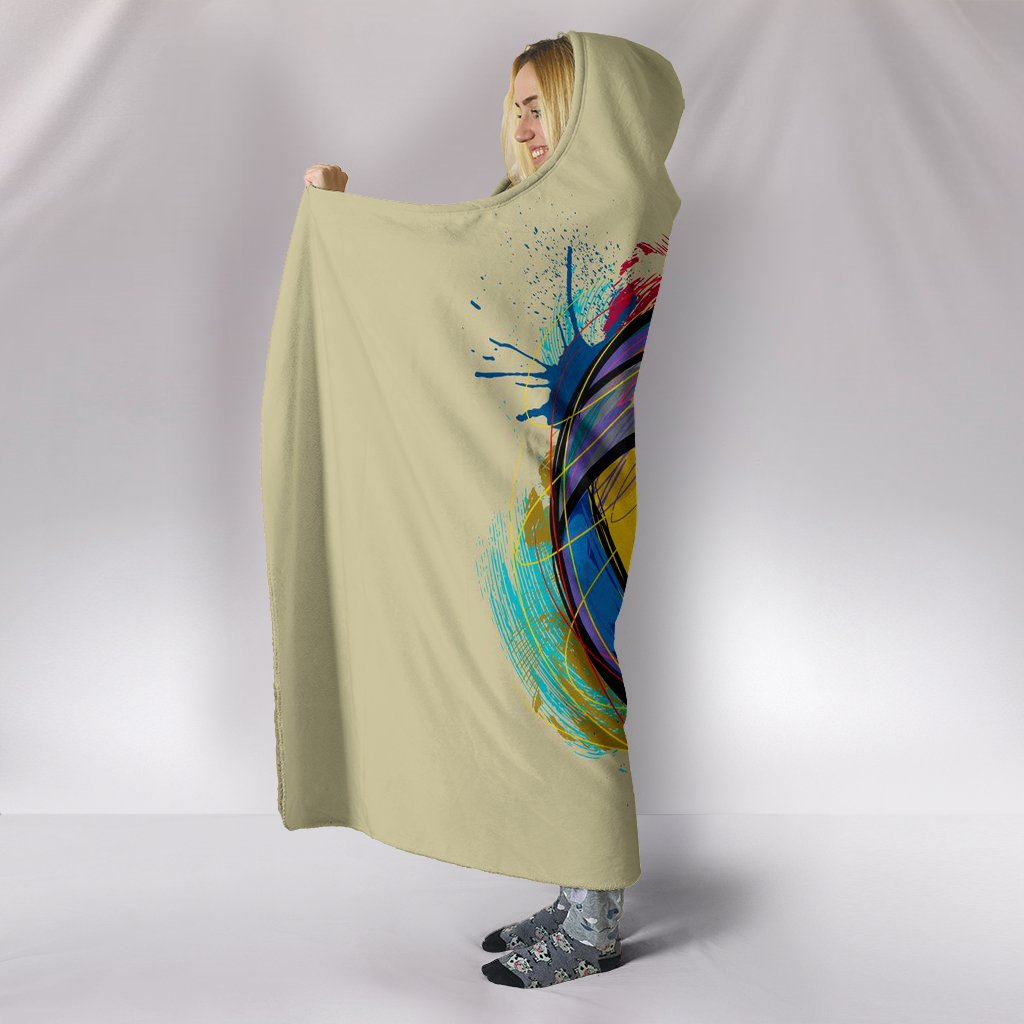 Volleyball Art Hooded Blanket