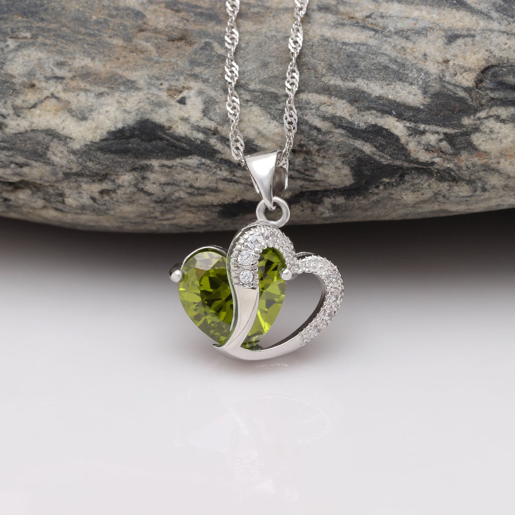 Heart of August Pendant Necklace