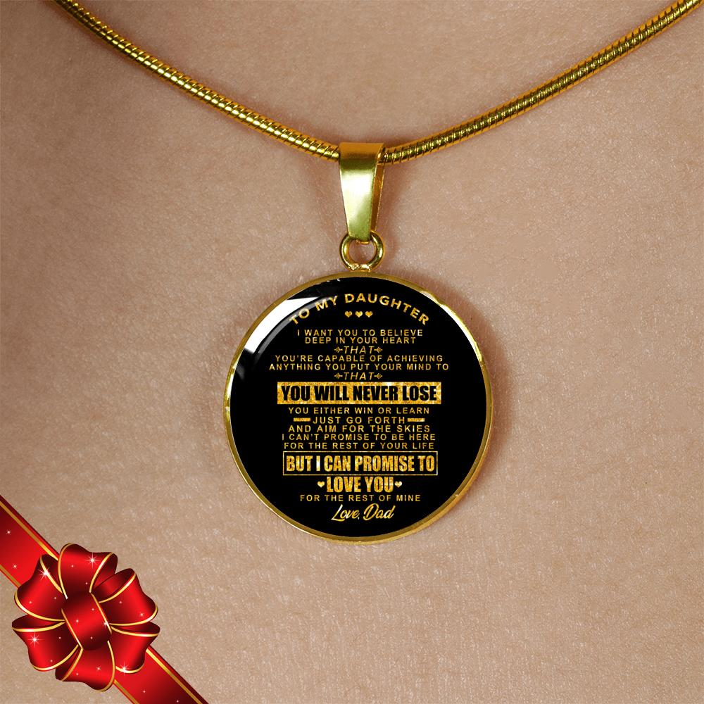 7c005a2b2 Real 18k Gold Finish Pendant Necklace (Perfect Gift For Daughter - From  Dads)