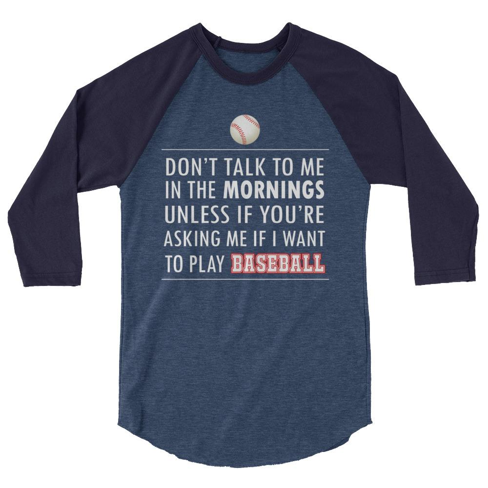 Grumpy Baseball Player's Raglan
