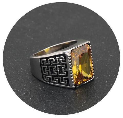 November Birthstone Band (Citrine)