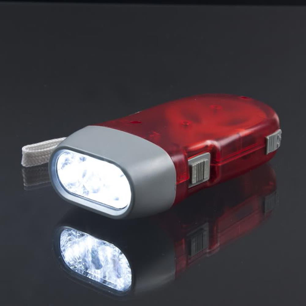 Hand Crank LED Flashlight