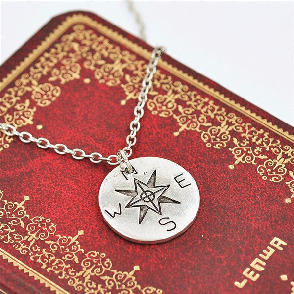 "Compass Necklace ""Not All Who Wander Are Lost"" Offer"