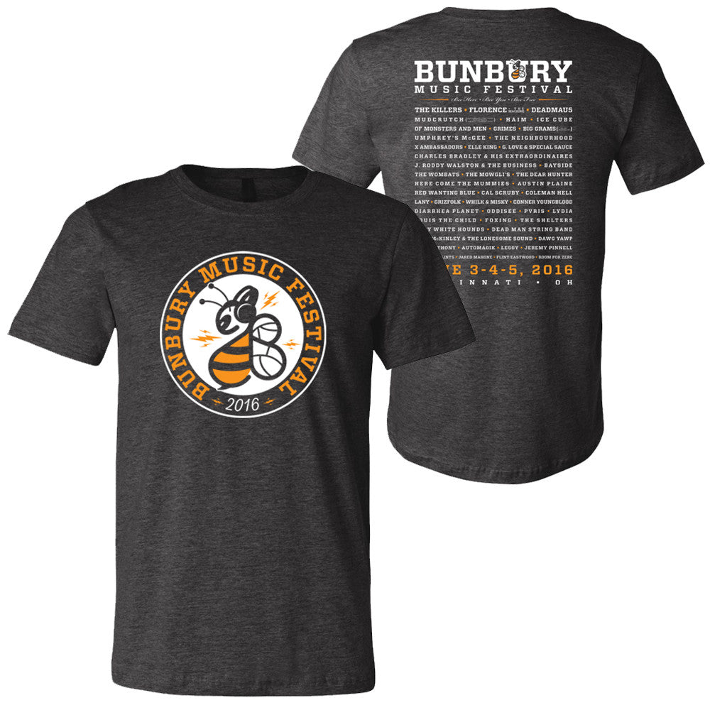 Bunbury 2016 Lineup T-Shirt