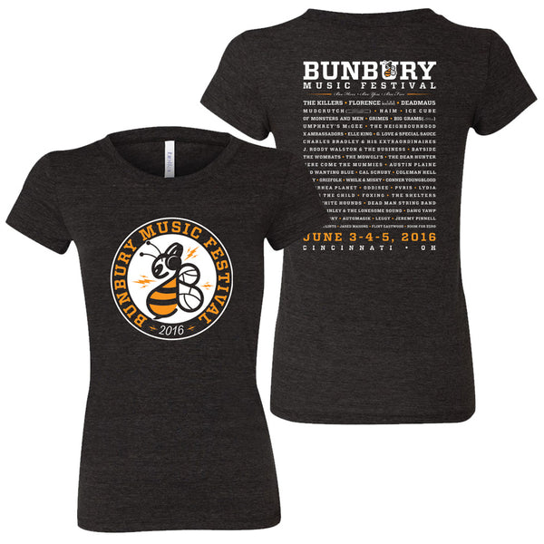 Bunbury 2016 Women's Lineup T-Shirt