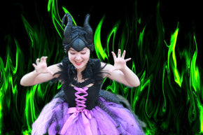 Maleficent Costume, Maleficent Tutu Dress, Villain Costume for girls