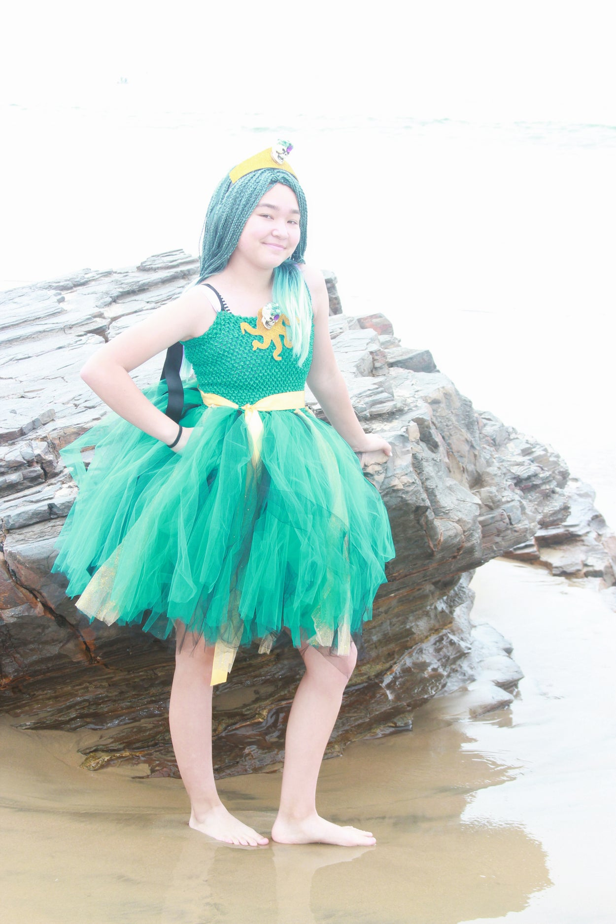 Descendants Uma Inspired Halloween Costume Tutu Dress
