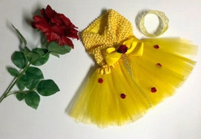 Belle Newborn Baby Princess Dress