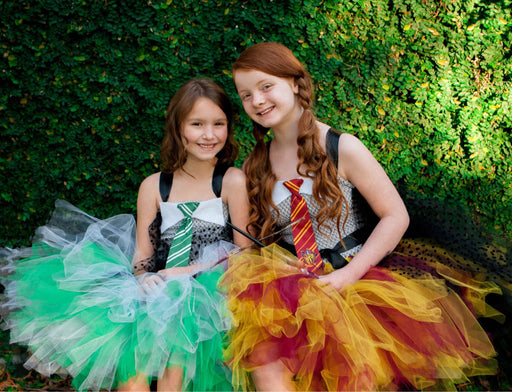 Wizard Costume, Hermoine tutu dress, Slytherine and Gryffindor costumes