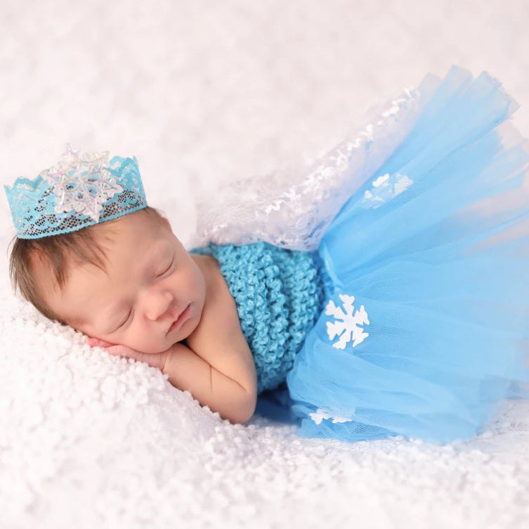 Elsa Frozen Newborn Baby Princess Dress