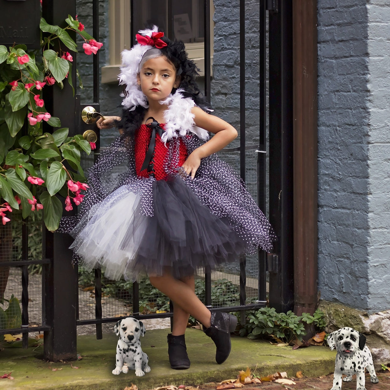 Cruella De Vil Inspired Tutu Dress Costume