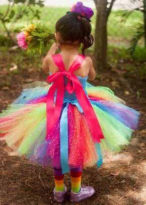 Circus Clown Tutu Dress Costume