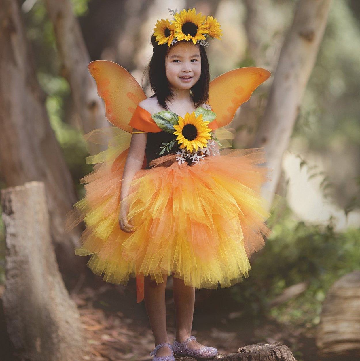 c684475cf1761 Sunflower Fairy Tutu Dress Costume