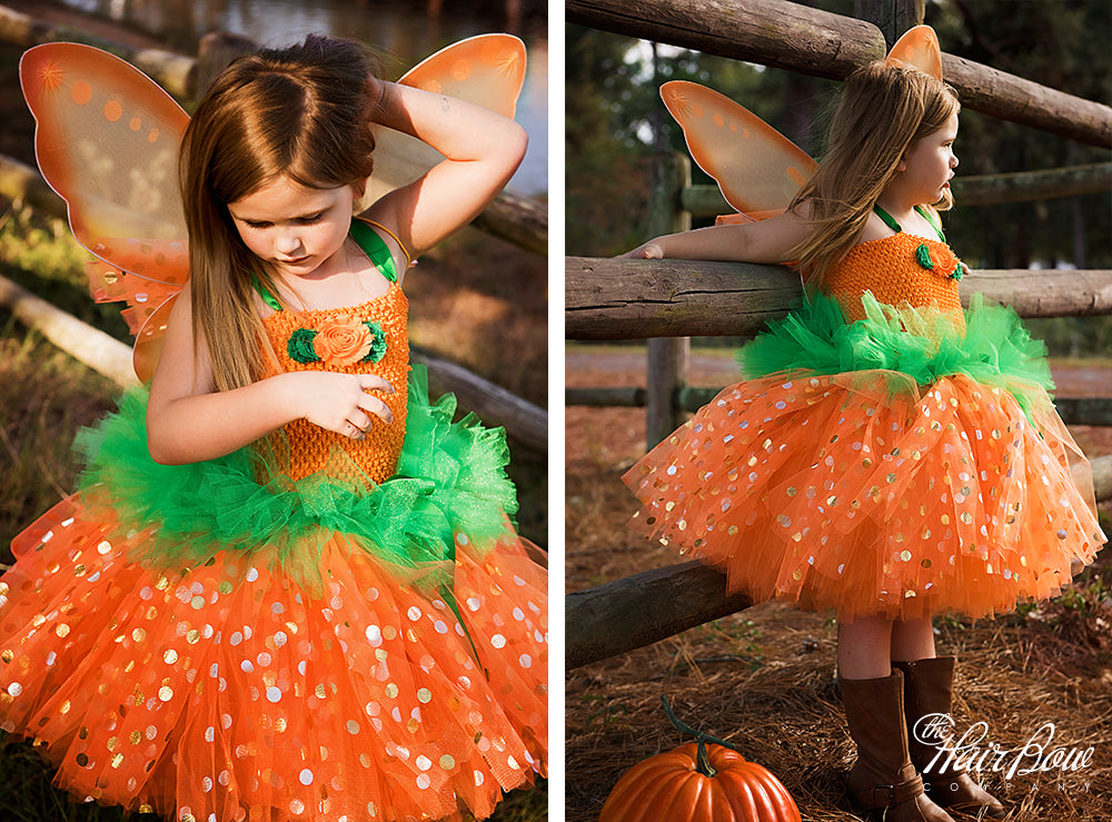 Lil' Pumpkin Fairy Tutu Dress Costume