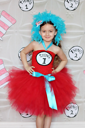 Thing 1 / Thing 2 Inspired Tutu Dress Costume