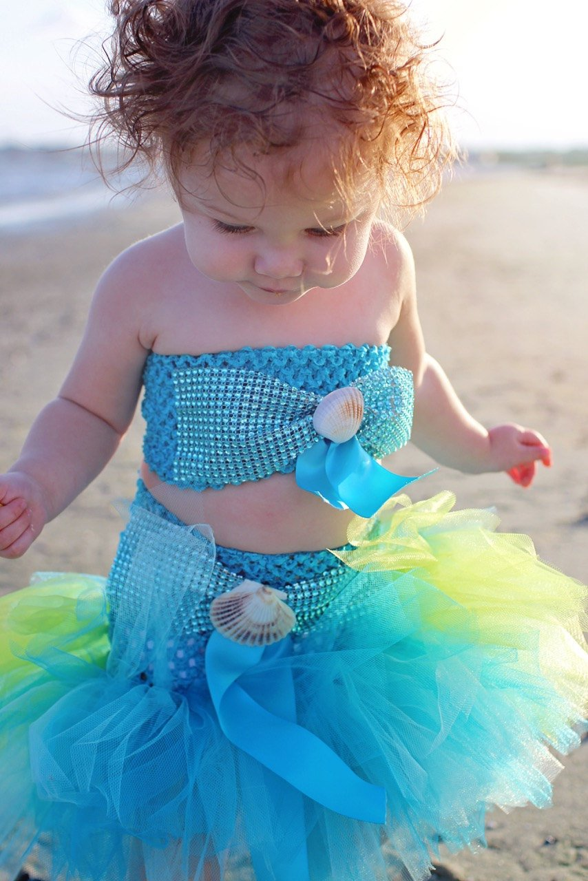 Colorful Two Piece Mermaid Inspired Tutu Costume