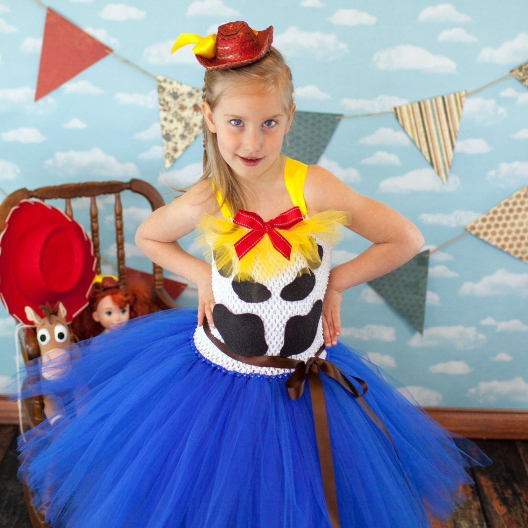 Cowgirl Jessie Inspired Tutu Dress Costume with Optional Matching Doll Dress