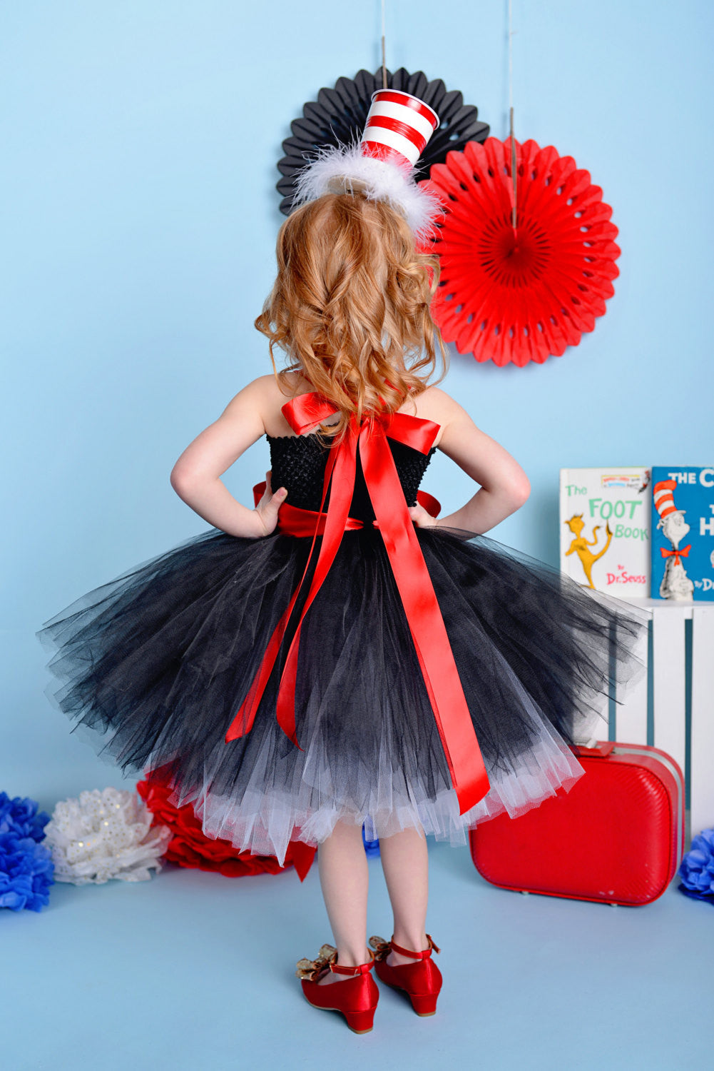 Playful and Perfect Cat In The Hat Inspired Tutu Dress