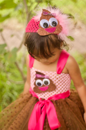 Happy Smiling Poop Emoji Tutu Dress