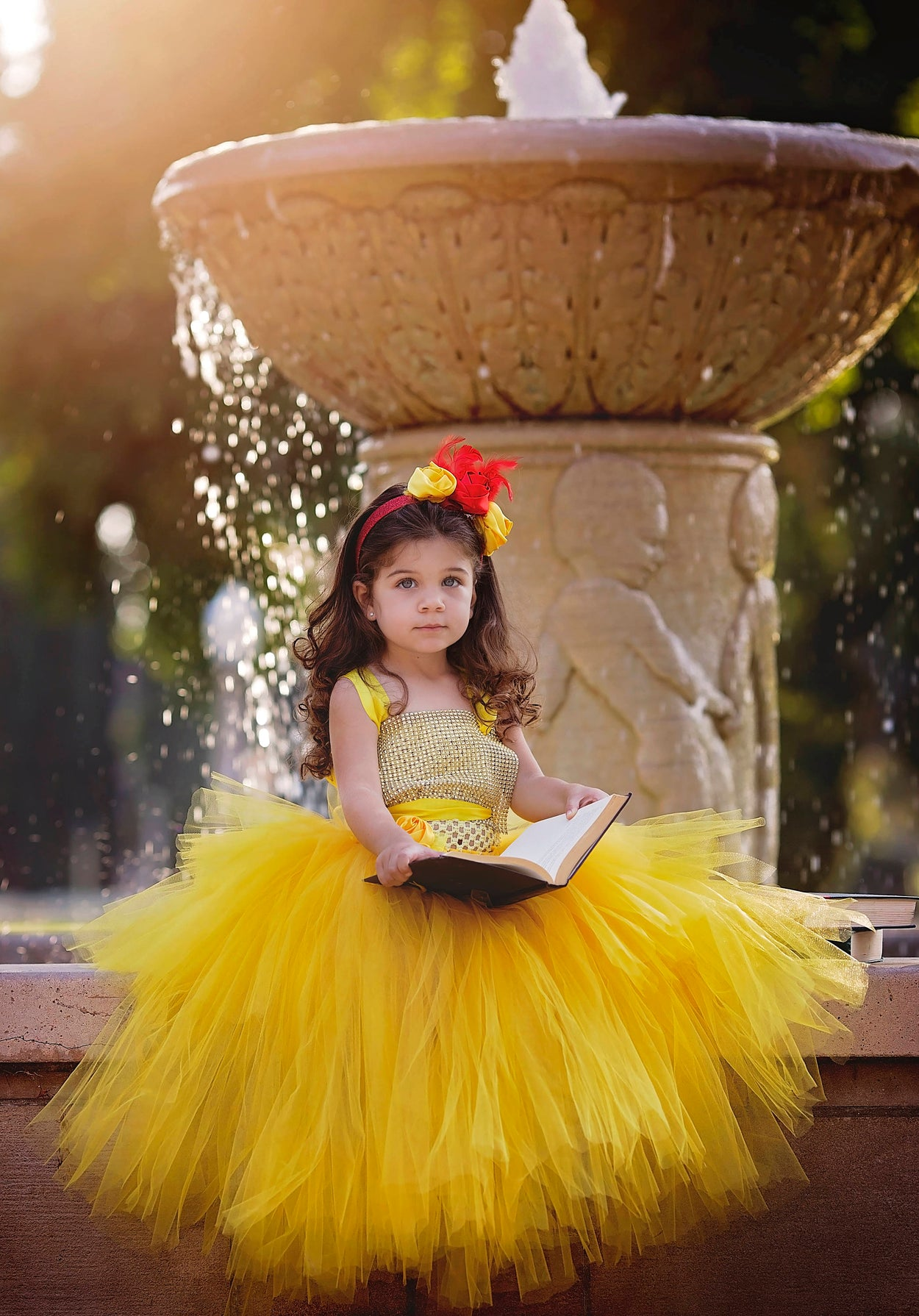 Belle of The Ball Yellow Tulle Princess Tutu Gown
