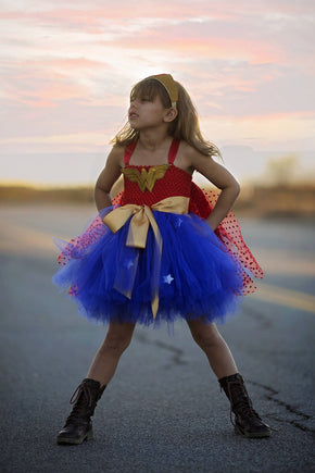Girls Tutu Dress Super Hero Costume